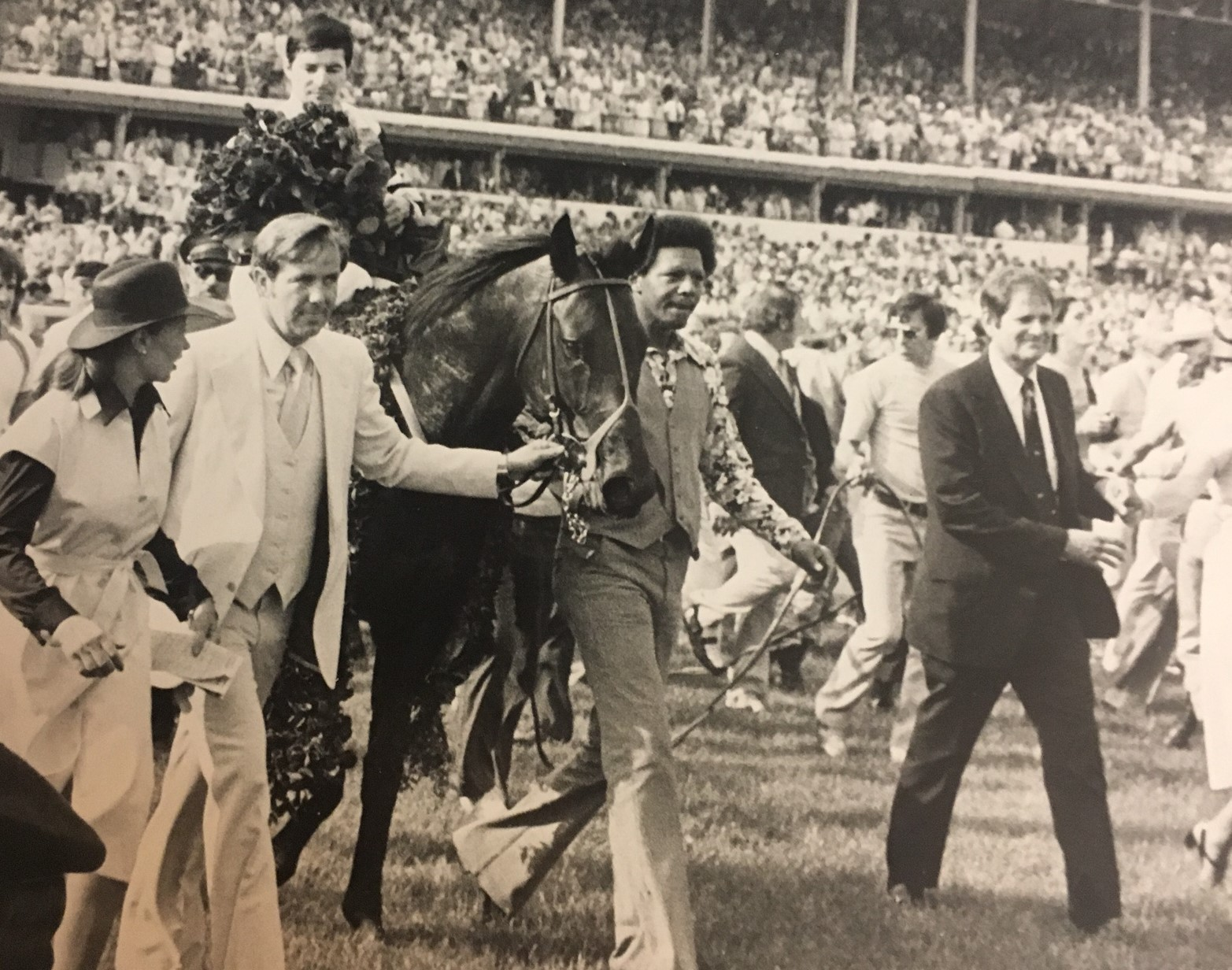 Keeneland Library Featherston Collection - Seattle Slew after 1977 Kentucky Derby win