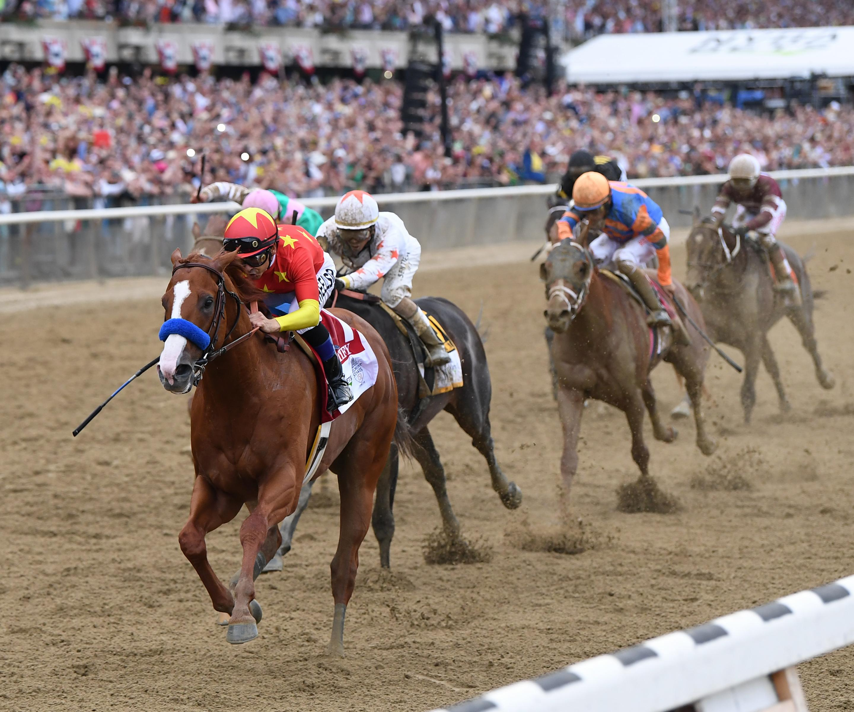 Justify wins the Belmont